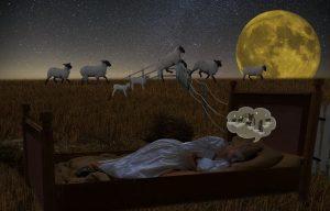 Laisser les soucis et dormir sans blanc